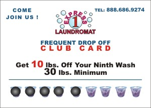 Express 1 Laundromat frequent washer club